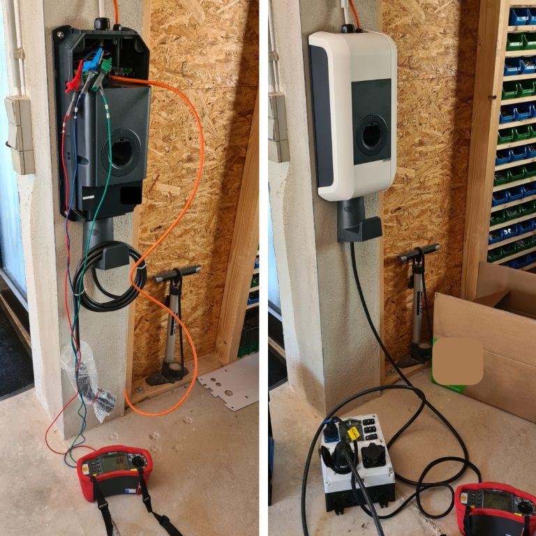 Installation der ersten E-Tankstellen!